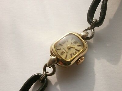 WWII VINTAGE GERMANY Women's  GOLD PLATED  MEHANIKAL WATCH - ARCTOS - AU 40