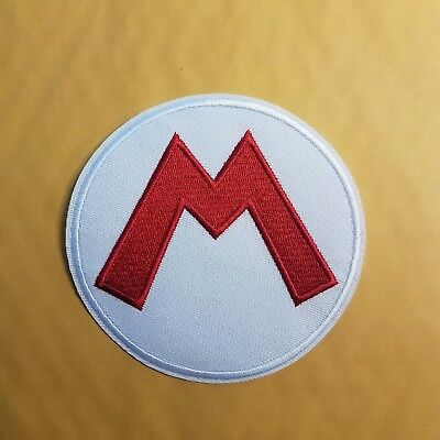 Super Mario Bros Mario Letter Costume Patch 4 inches tall