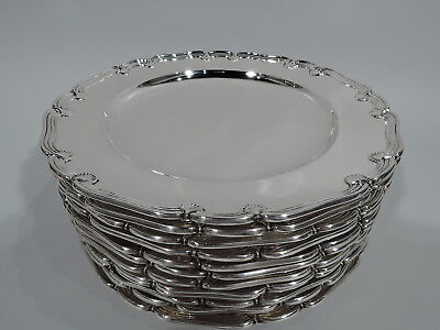 Tiffany Plates - 9509 - Antique Appetizer Salad - American Sterling Silver