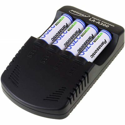Powery Chargeur pour NiCd /NiMH/ 9V Bloc batterie incl. 4x batteries AA 2700mAh