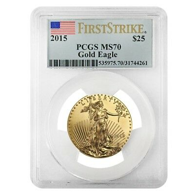 2015 1/2 oz $25 Gold American Eagle PCGS MS 70 First Strike