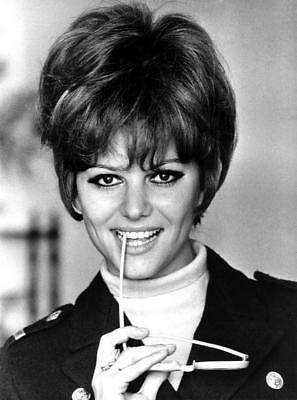 Claudia Cardinale Biting The Glasses 8x10 Picture Celebrity Print