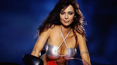 Catherine Bell Posing On The Motorcycle 8x10 Picture Celebrity Print