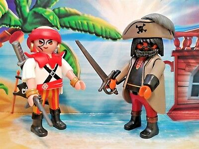 Playmobil® Piraten Figuren - Kapitän & Seeräuber mit Waffen, TOP!!!