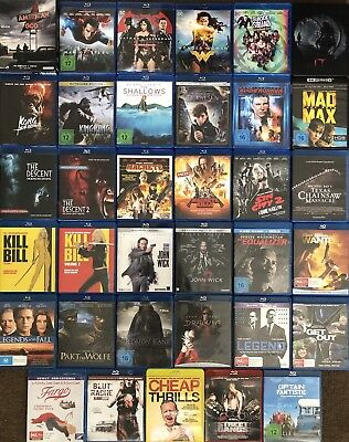 JOHN WICK Blu Ray, KILL BILL, SUPERMAN, BATMAN, MAD MAX, KING KONG, DRACULA, IT