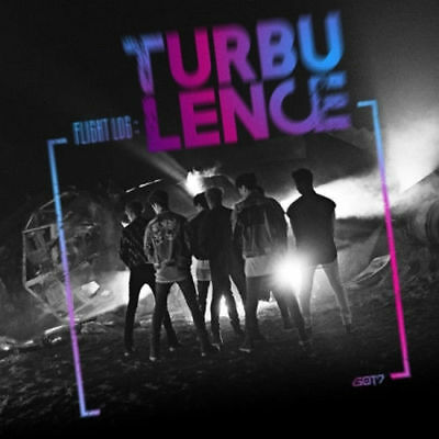 GOT7 [FLIGHT LOG:TURBULENCE] 2nd Album CD+PhotoBook+Sticker+Card+GIFTCARD SEALED