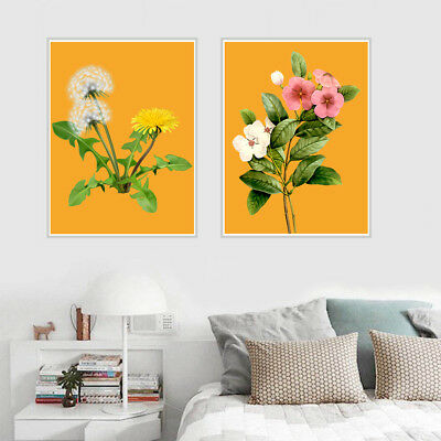 Green Flowers Canvas Art Painting Poster Kitchen Room Picture Wall Home Decor