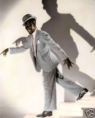 "BILL BOJANGLES ROBINSON ACTOR SINGER DANCER 8x10"" HAND COLOR TINTED PHOTOGRAPH"
