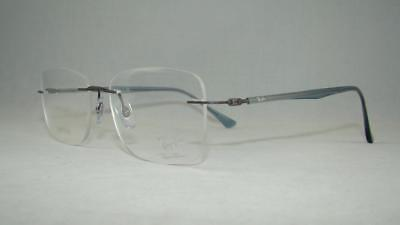 79633d3a6 Ray Ban RB 8725 1028 Light Ray Gunmetal Blue Rimless Eyeglasses Frames Size  54
