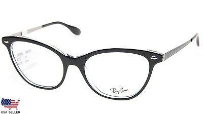 48fb9505703 NEW RAY BAN RB5360 2034 TOP BLACK On CLEAR EYEGLASSES GLASSES 54-18 ...