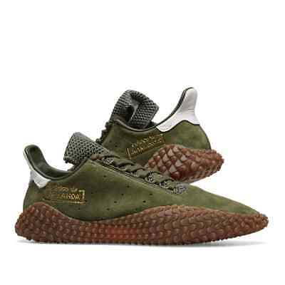 new styles 78c50 e68f1 New 2018 ADIDAS Kamanda 01 Trainers, Green-White, Gum Sole (B96521)
