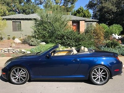 2002 Lexus SC IVORY LUXURY BLUE PEARL GORGEOUS SOUTHERN CALIFORNIA TOPLESS LADY GARAGE KEPT NO CORROSION CLEAN CARFAX