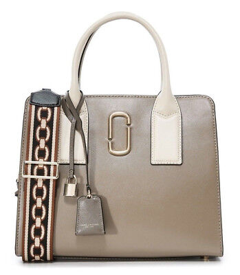 Marc Jacobs Little Big Shot Convertible Satchel Bag Leather French Gray  Grey New 283018e78d93b
