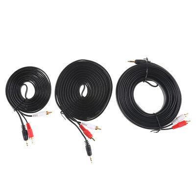 3.5MM Male Jack to AV 2 RCA Male Stereo Music Audio Cable Cord AUX 3M 5M 10M%