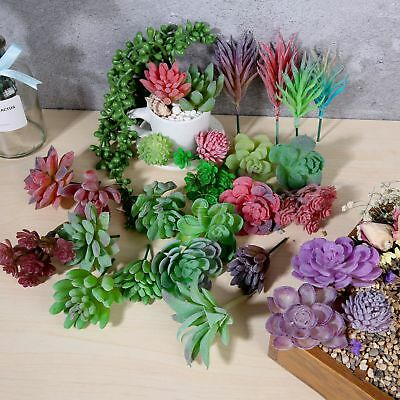 1pc Artificial Garden Fake Lotus Cactus Succulents Plant DIY Home Floral Decor