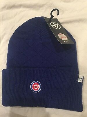 28abf641a89f5 ... spain chicago cubs world series beanie hat one size fits all blue new  with tags fd981 ...