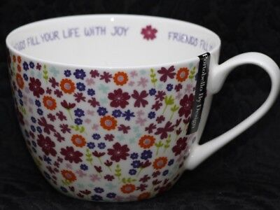 PORTOBELLO By DESIGN FRIENDS FILL YOUR LIFE WITH JOY Bone China Jumbo Cup