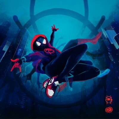 """030 Spider Man Into The Spider Verse Action 2018 USA Animation 33/""""x14/"""" Poster"""