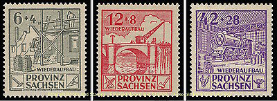 EBS Germany 1946 Soviet Zone - Saxony - Reconstruction set Perf 87A-89A MNH**