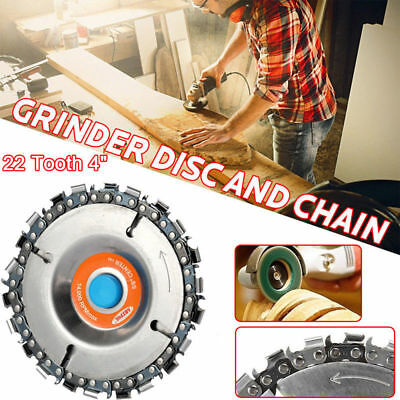 """22 Tooth 4"""" Cut Grinder Disc and Chain Wood Carving For 100/115 Angle Grinder"""