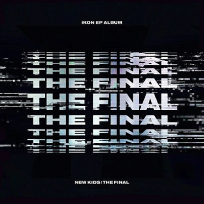 IKON [NEW KIDS:THE FINAL] EP Album BLACK CD+2p POSTER+Photo Book+P.Card+Sticker
