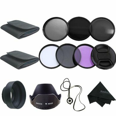 72MM Filter Kit UV CPL FLD &ND2 ND4 ND8 Lens Hood Set for Canon Nikon Sony Sigma