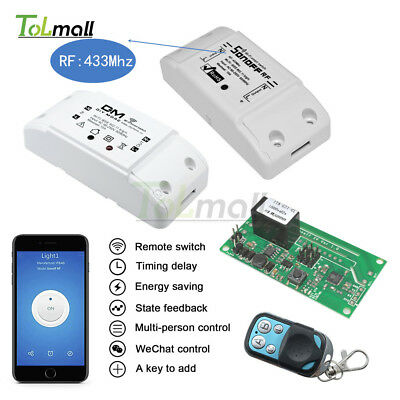 Sonoff Smart WiFi Wireless Home Switch Module For RF 433Mhz Android APP Control