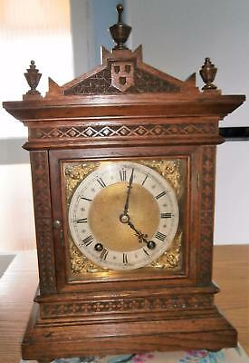 W&H Carved Oak Striking Bracket Clock in GWO