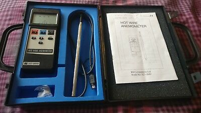 Hot wire anemometer RS 327-0640