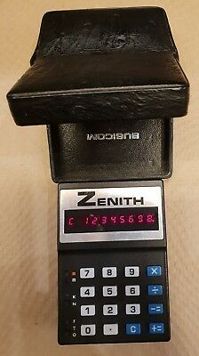 Busicom Zenith Le 80 A Calculator Led Vintage Rare Working And Box Original