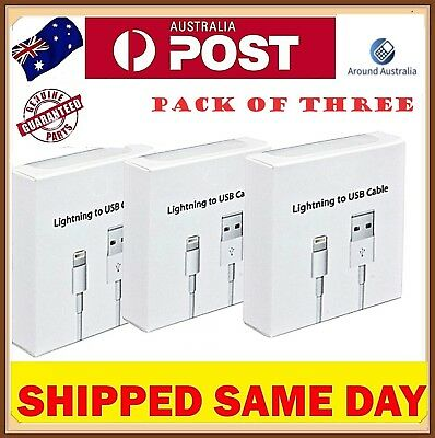 3x USB Lightning Cable Chargers For Apple Charger iPhone 6 7 8 Plus X Xs Max