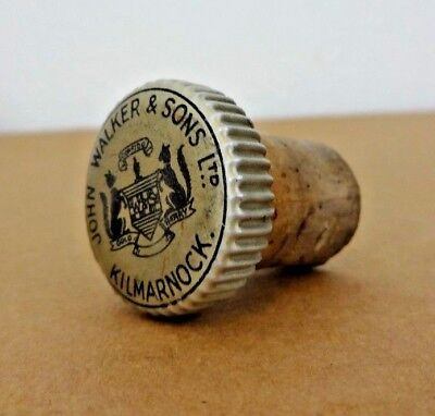 Vintage JOHN WALKER & SONS LTD. KILMARNOCK Bottle Cap Cork Topper Stopper