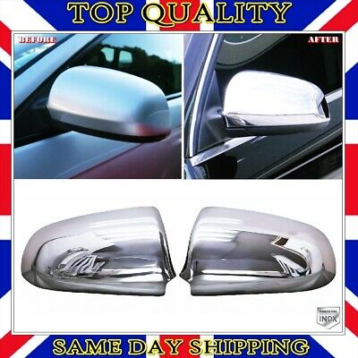 CHROME MIRROR COVER CAPS MOLDING WINGS for AUDI A4 B6 S4 2000-04 SLINE QUATTRO S