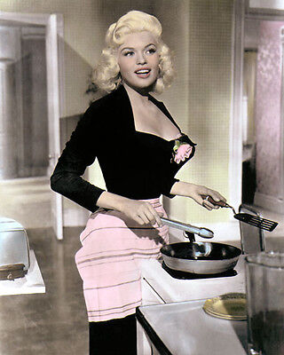 """JAYNE MANSFIELD THE GIRL CAN'T HELP IT 1956 8x10"""" HAND COLOR TINTED PHOTOGRAPH"""