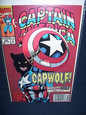 Captain America #405 Capwolf Marvel Comics with Bag and Board