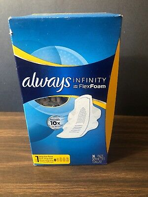Always Infinity Pads with FlexFoam Size 1 Regular with Wings 36 Pads NEW