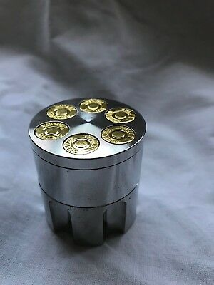 40mm Mill Grinder Zinc Metal Herb 3Part Grinder Shark Diamond Teeth Rotary Sys