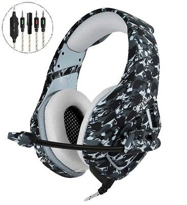 ONIKUMA K1 Stereo Bass Surround Gaming Headset Headphone for PS4 New Xbox One PC