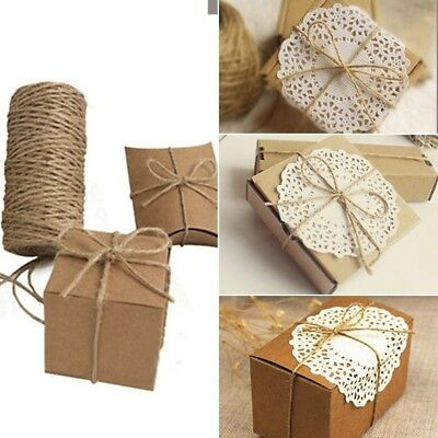 Jute Hemp Rope Gifts Package Wrap String Cord Brown Twine DIY Craft String 33M*1