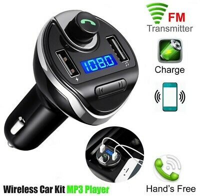 Bluetooth Car FM Transmitter Wireless Adapter Handsfree 2 USB Charger Mp3 Player