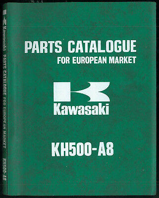Parts List KAWASAKI KH 500 A8 1975 -1976 Catalogue de Pièces for European Market