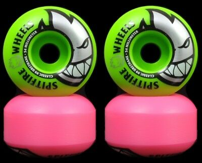 Spitfire Low Downs Wheels 99A Skateboard Rollen 52 mm türkis Classic Shape Rollen Funsport