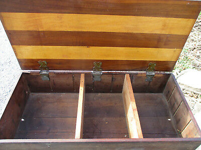 """Gorgeous Antique Seed Box Grooves Inside For Seed Compartments 24"""" Long"""