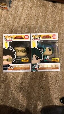 IN HAND Funko Pop BATTLE DEKU and SHOTA AIZAWA Hero Costume Hot Topic Exclusive