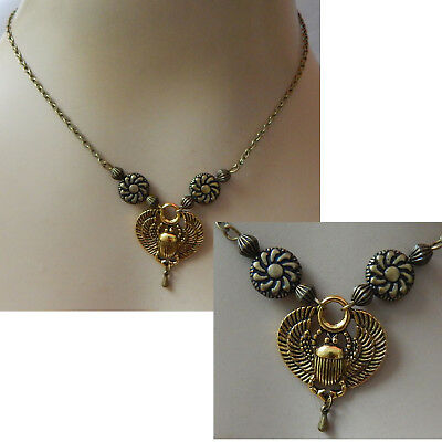 Scarab Pendant Necklace Jewelry Gold Handmade NEW Accessories Adjustable