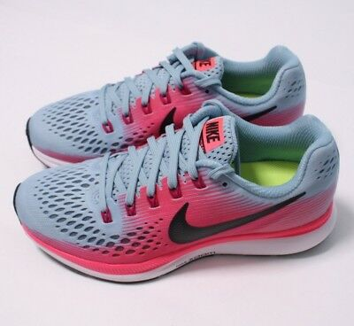 11d859e693b33c NIKE AIR ZOOM Pegasus 34 Wide Women s Shoes Mica Blue Racer Pink ...