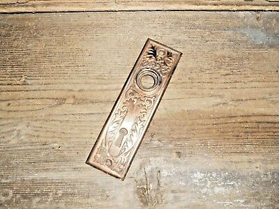 Vtg Nice Aged Eastlake Victorian Fancy Ornate Antique Door Backplate,