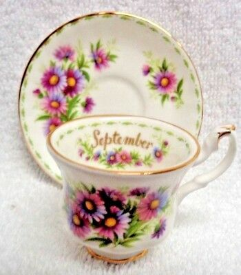 Royal Albert Flower of the Month Sept 1970 Miniature  Cup and Saucer