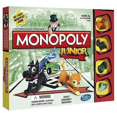 Monopoly Junior Board Game Hasbro Jr Boy Girl Kids Gift Brand New