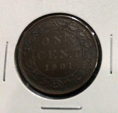 1901 Canada Large Cent Penny AU+ STUNNING